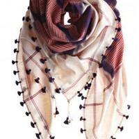 Chaukadi Red Scarf?::?SCARVES