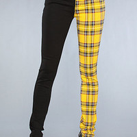 Tripp NYC The Split Leg Pant in Black and Yellow Plaid : Karmaloop.com - Global Concrete Culture