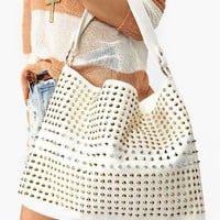 Totally Studded Bag - White in  What&#x27;s New at Nasty Gal