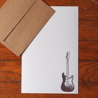 Guitar Stationery, music stationery set guitarist letter writing paper