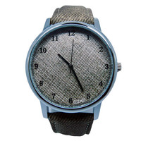 Mens Denim Watch, Denim Watch, Unisex Denim Watch