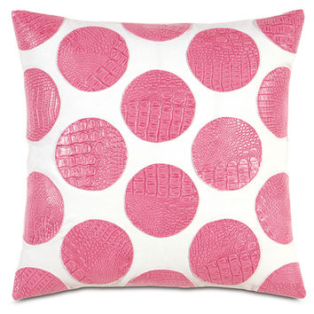 Belmont Home Decor Luxury Bedding - NEVEL PINK ROUNDS | Luxury Bedding, Decorative Pillows, Table Runners, Ottomans, Footstools from BHD