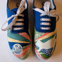 Custom Painted Canvas Shoes by SolefulSneakers on Etsy