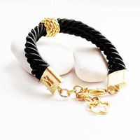 black braceletfloss silk cord braceletsummer by aynurdereli