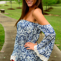 Best Of Both Worlds Romper, Blue