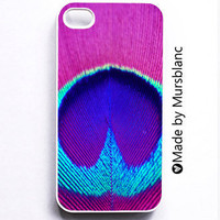 Iphone 4 Case Peacock Peacock FeatherPinkblue by HipsterCases