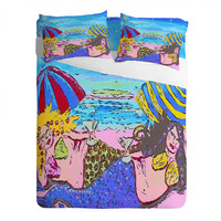 Renie Britenbucher Beached Mermaids Sheet Set