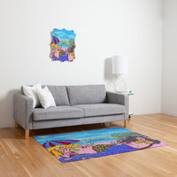 Renie Britenbucher Beached Mermaids Woven Rug