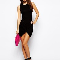 ASOS Petite | ASOS PETITE Asymmetric Sleeveless Body-Conscious Dress at ASOS