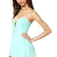 Nasty Gal Stolen Nights Romper - Mint