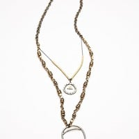 Free People Womens Mercury Metal Pendant -