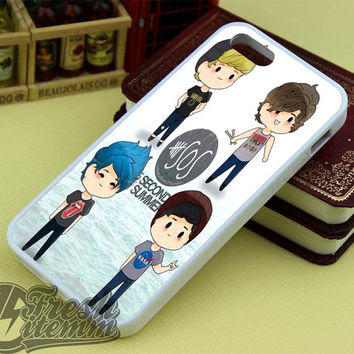 5SOS Cartoon For iPhone 4/4s iPhone 5/5s/5C Samsung Galaxy S3/S4/S5 Galaxy S3/S4 Mini