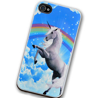 iPhone 80's Unicorn Rainbow Righteous Van Art by TheCuriousCaseLLC