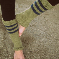 Leg Warmers Knit Leg Warmers Tan Leg Warmers by AutumnAndAmber