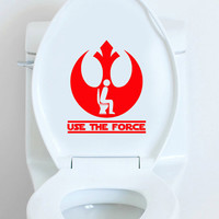 Star Wars use the force vinyl decal toilet sticker