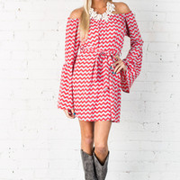 Running in Circles Chevron Dress