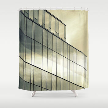 Silver Sliver Shower Curtain by RichCaspian | Society6