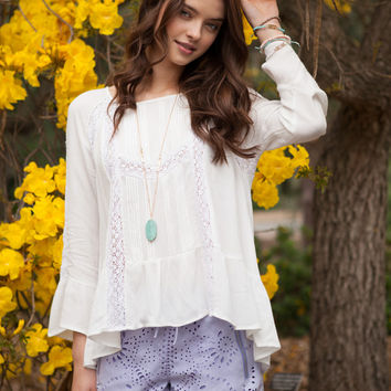 Songbird ruffled Top