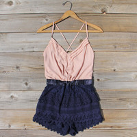 Sweet Nectar Romper in Dusty Rose