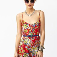 Hannah Floral Romper in  What's New at Nasty Gal
