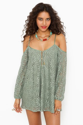 Bowie Crochet Dress at Nasty Gal