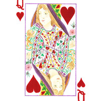 Queen of Hearts archival print 85 x 11 limited by LiseWinne