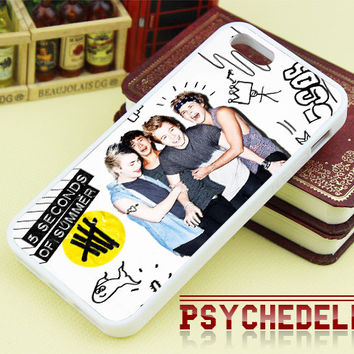 5SOS Colorfull Photos for iPhone 4/4s/5/5s/5c - iPod 4/5 - Samsung Galaxy s3 i9300/ s4 i9500 and etc - Black/White