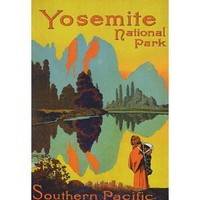 YOSEMITE NATIONAL PARK SOUTHERN PACIFIC UNITED STATES TRAVEL VINTAGE POSTER REPRO