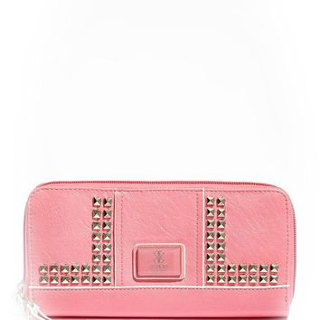 GUESS Road Trip SLG Zip Around Clutch Wallet, Watermelon