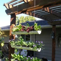 How To Make a Hanging Gutter Garden aHa! Home  Garden | Apartment Therapy New York
