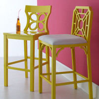 Lilly Pulitzer Home Yellow Barstools - Horchow