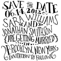 Circus Hand Lettered Save the Date Stamp | antiquariadesignstudio