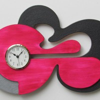 Abstract Unique Wall Clock | quartetclocks - Furnishings on ArtFire
