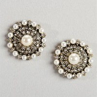 Socialite Pearl Stud Earrings :: www.windsorstore.com