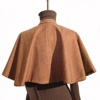 Winter Wool Full WRAP SHAWL Capelet | VintageGaleria - Clothing on ArtFire