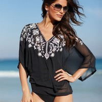 Embroidered Georgette Blouse at Newport-News.com