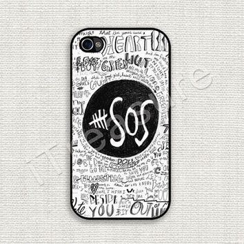 iPhone 4 Case, iPhone 4s Case, iPhone 4 Cover, iPhone 4s Cover, Hard iPhone Case, 5 Seconds Of Summer