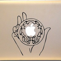 Sailor Moon Silver Crystal Macbook Decal Vinyl Sticker for Mac Laptop | KrazyKutz - Housewares on ArtFire