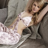 Songbird boudoir bra and pyjama trouser - Fleur of England
