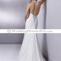 Empire V-neck Chapel Train Chiffon wedding dress for brides 2012 Style(WD0203) [WD0203] - $156.69 : wedding fashion, wedding dress, bridal dresses, wedding shoes