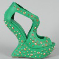 Privileged Karvis Studded Spike Heel Less Curved Wedge