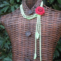Gypsy Spirit Crocheted Flower Lariat | Gypsy_Spirit_Threadworks - Accessories on ArtFire
