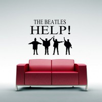 The Beatles Help - Vinyl Wall Art Decal | VinylWallAccents - Housewares on ArtFire
