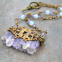 Amethyst Natural Gemstone Necklace