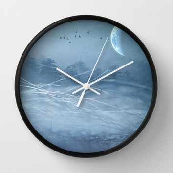 Somewhere Wall Clock by SensualPatterns