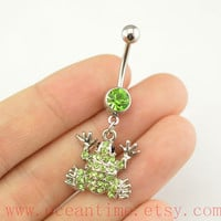 Belly ring, frog belly button Jewelry,belly button ring,frog navy ring,friendship bellyring,oceantime