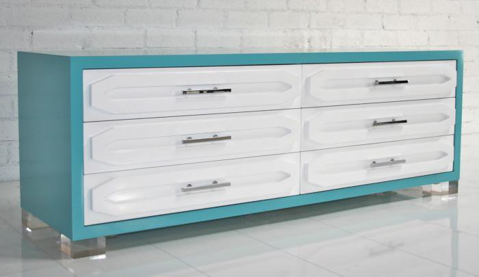 www.roomservicestore.com - Aqua Monte Carlo Lowboy Dresser