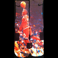Michael Air Jordan Dunk Custom Nike Elite Socks