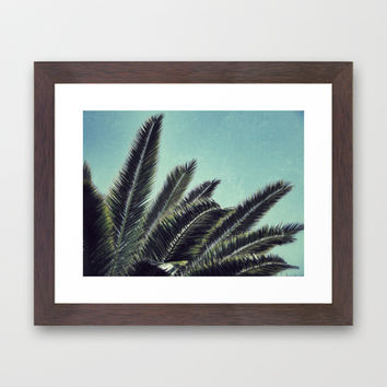 Palms Framed Art Print by RichCaspian | Society6