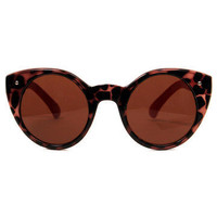 GYPSY WARRIOR - Circle Cat Eye Sunglasses - Tortoise/Red